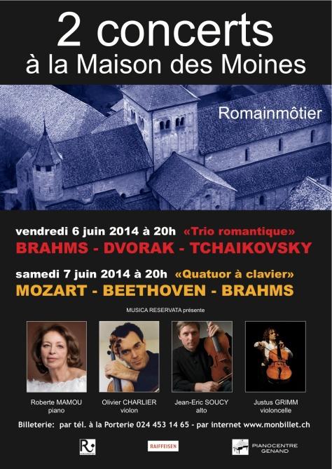 Concerts Romainmôtier Juin 2014